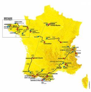 ツールドフランス2021地図